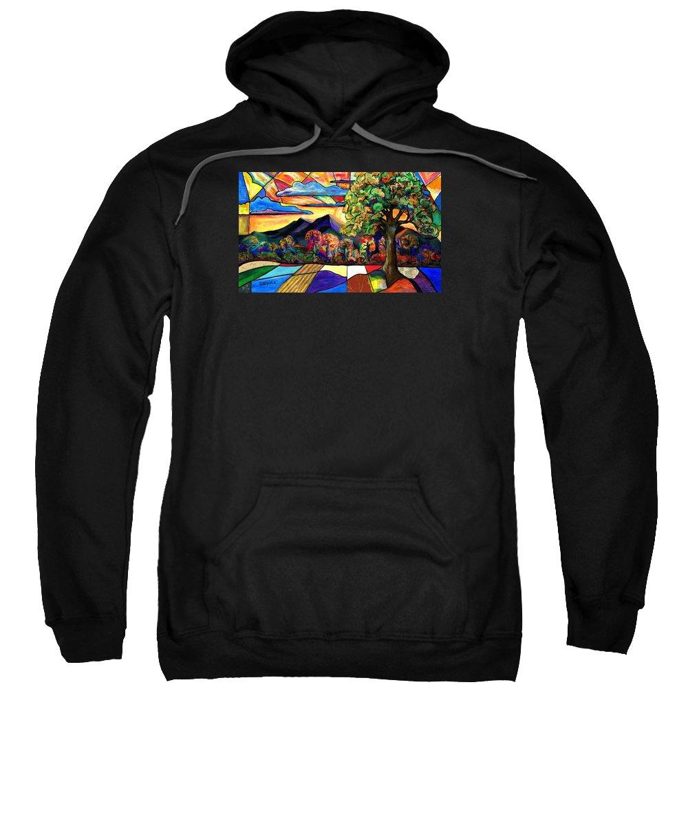 Everett Spruill Sweatshirt featuring the painting Autumn Sunrise by Everett Spruill