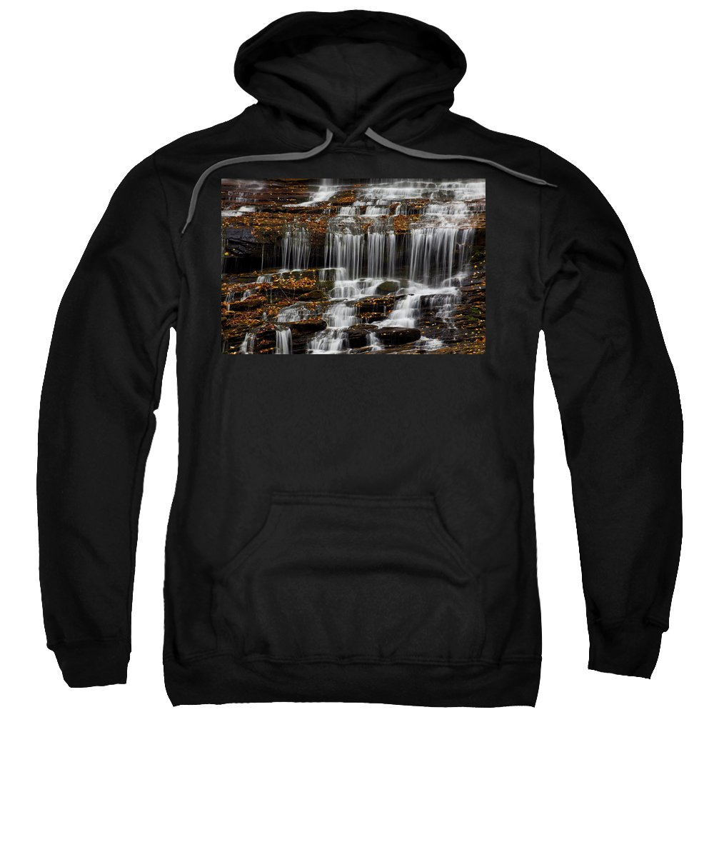 Water Sweatshirt featuring the photograph Autumn Waterfall by Amy Jackson