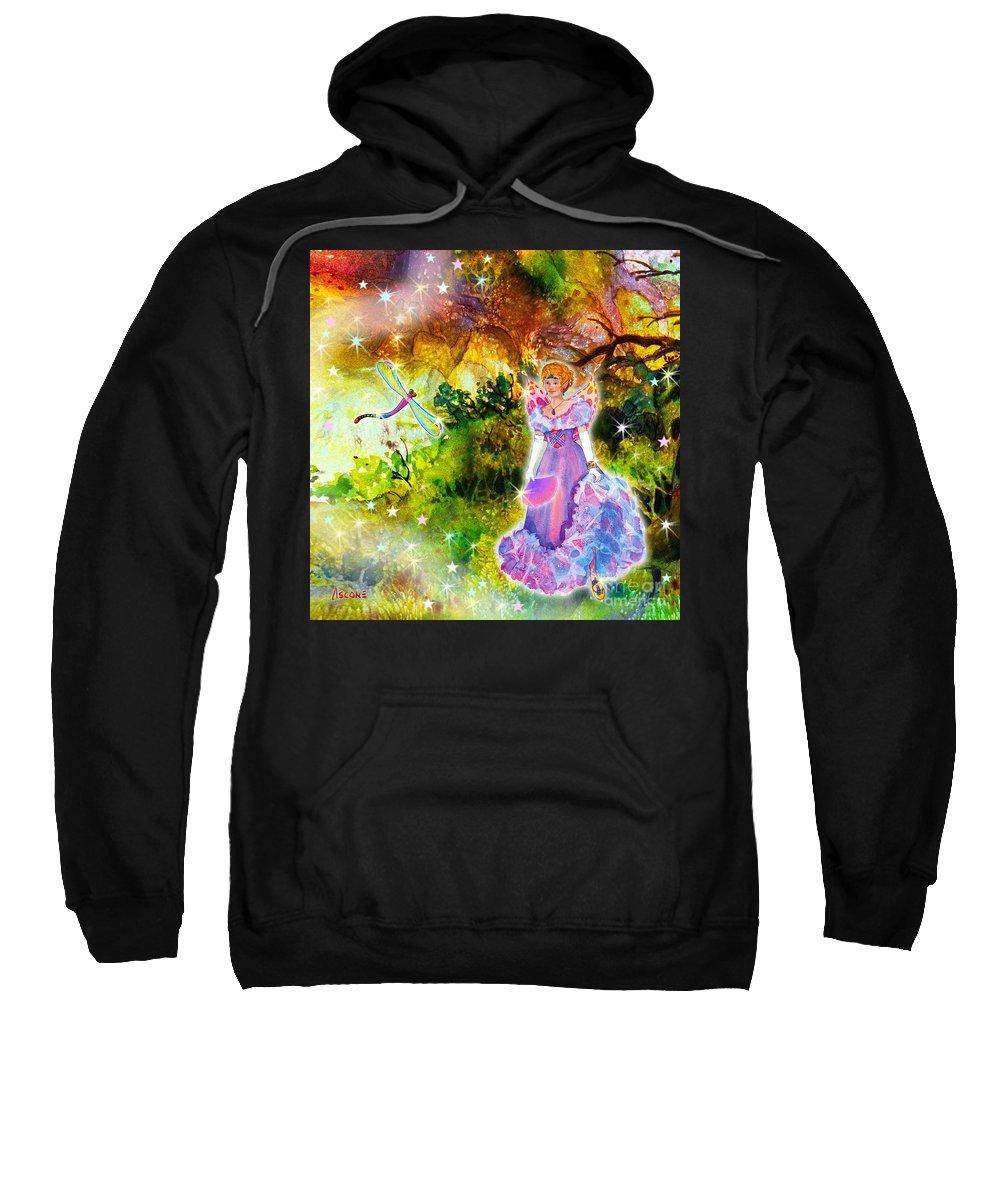 Azuria In Her Banquet Gown Sweatshirt featuring the painting Azuria In Her Banquet Gown by Teresa Ascone