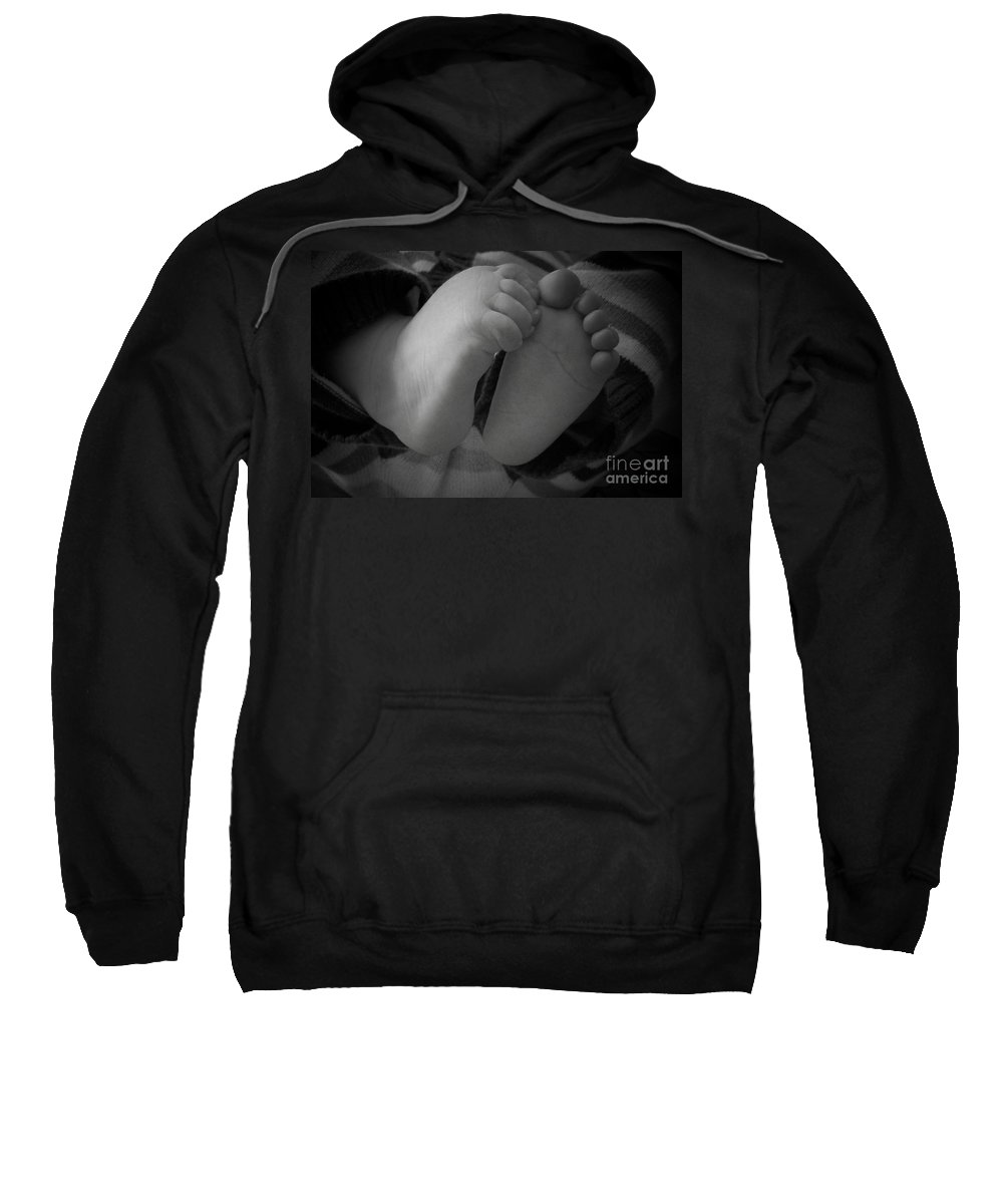 Baby Sweatshirt featuring the photograph Baby Feet by Barbara Bardzik