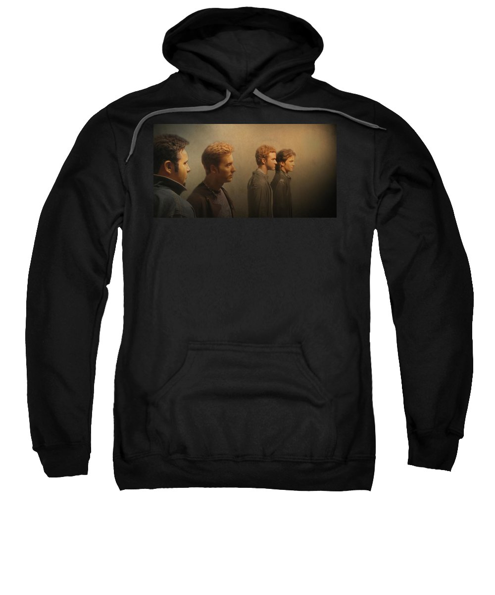 Nsync Sweatshirt featuring the photograph Back Stage With Nsync by David Dehner