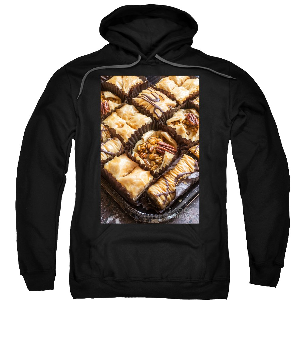 Honey Sweatshirt featuring the photograph Baklava Desert by Edward Fielding