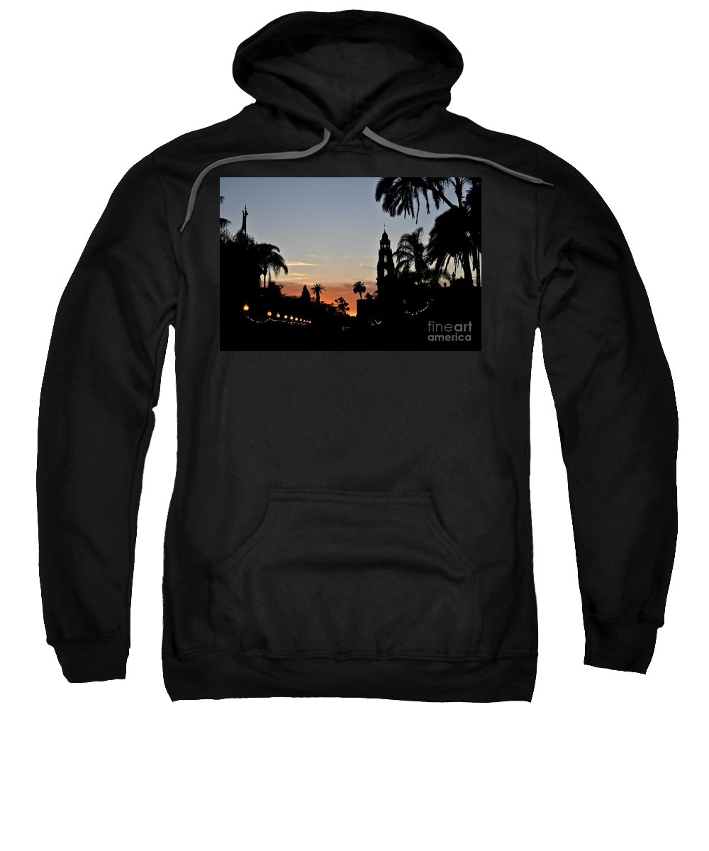 San Diego Sweatshirt featuring the photograph Balboa At Sunset by Bridgette Gomes