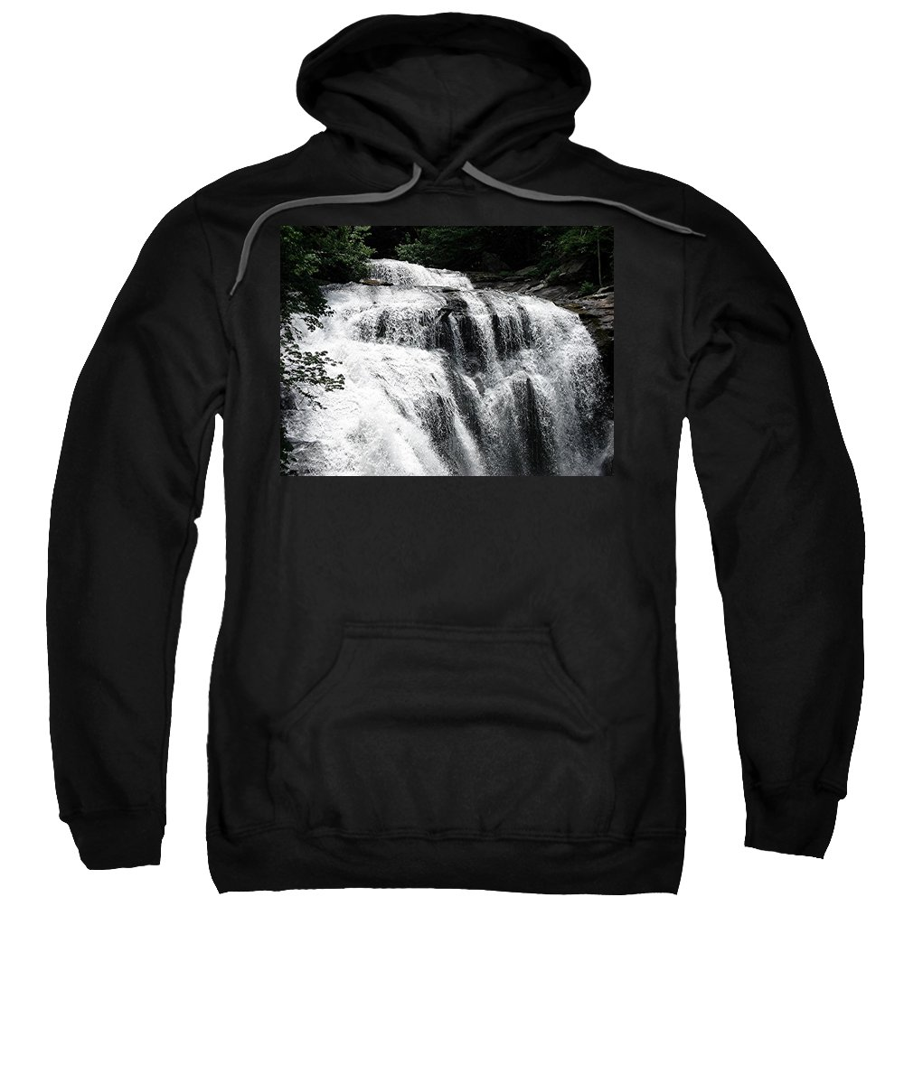 Water Falls Sweatshirt featuring the photograph Bald River Falls by Mary Marsh