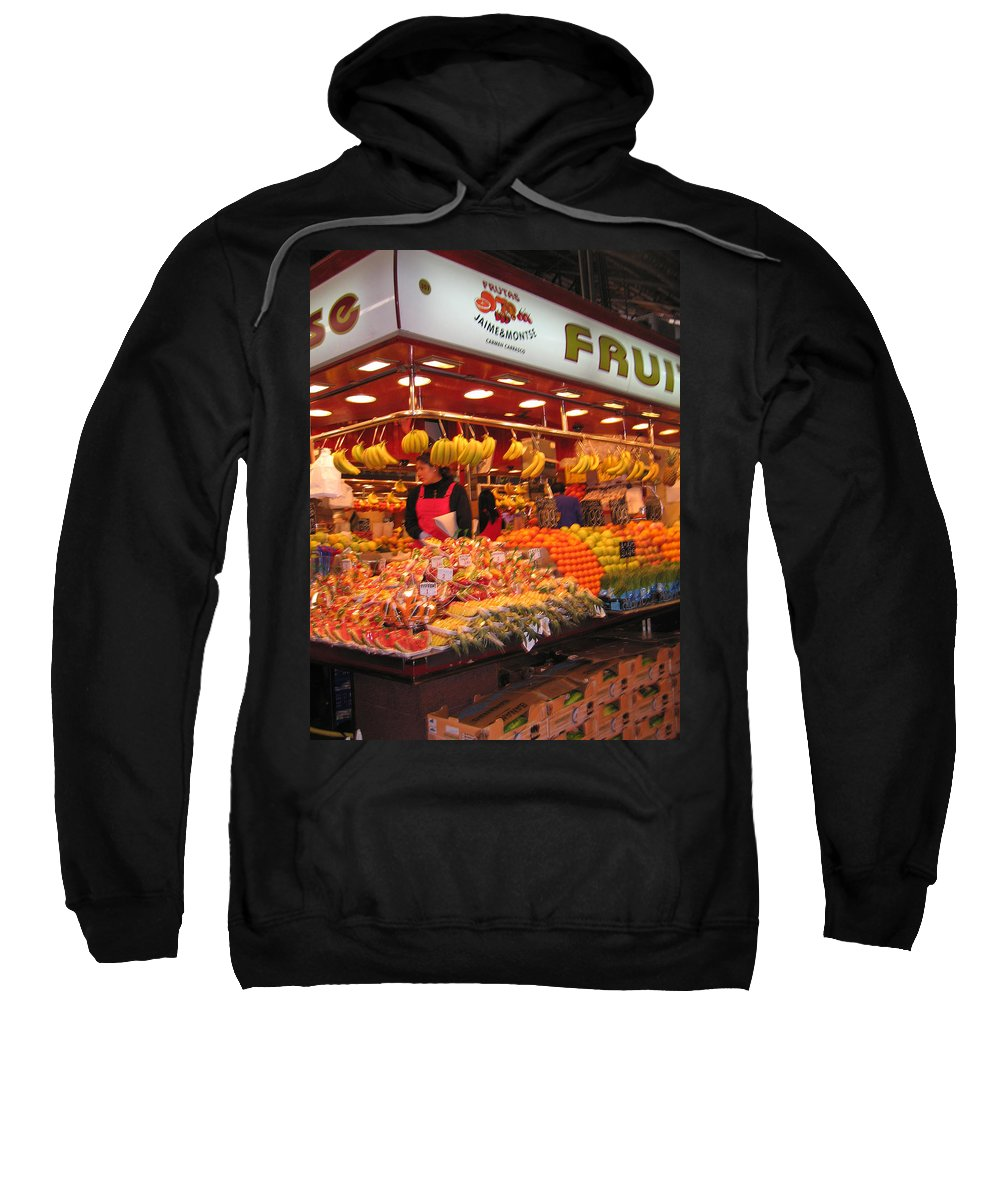 Fruits Sweatshirt featuring the photograph Barcelona Food Court by Jay Milo