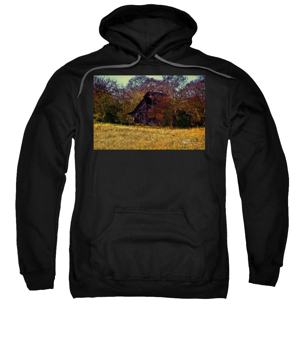 Barn Sweatshirt featuring the photograph Barn And Diamond Reo-featured In Barns Big And Small Group by Ericamaxine Price
