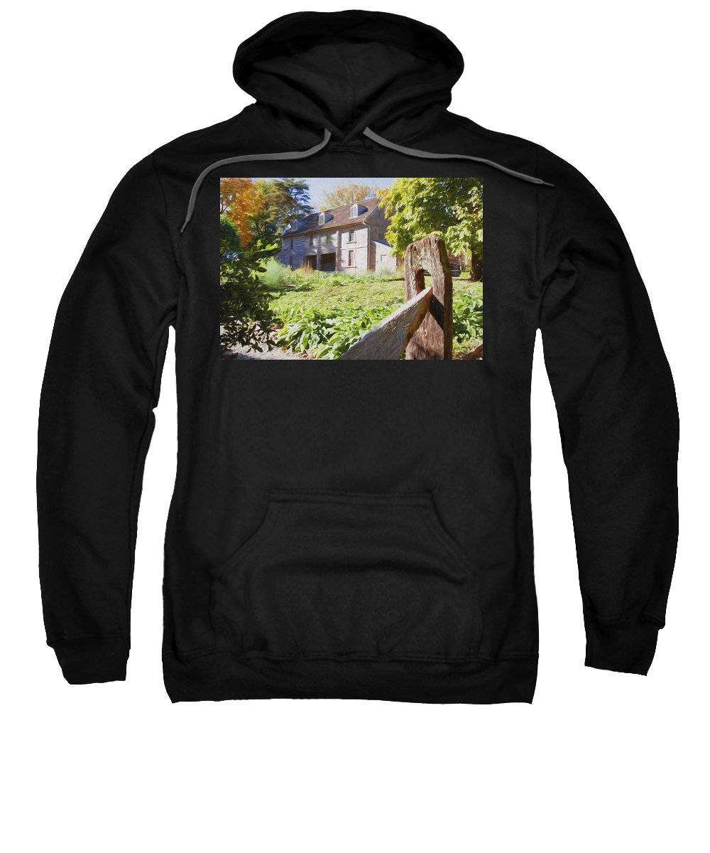 Bartrams Garden Sweatshirt featuring the photograph Bartrams Fence by Alice Gipson