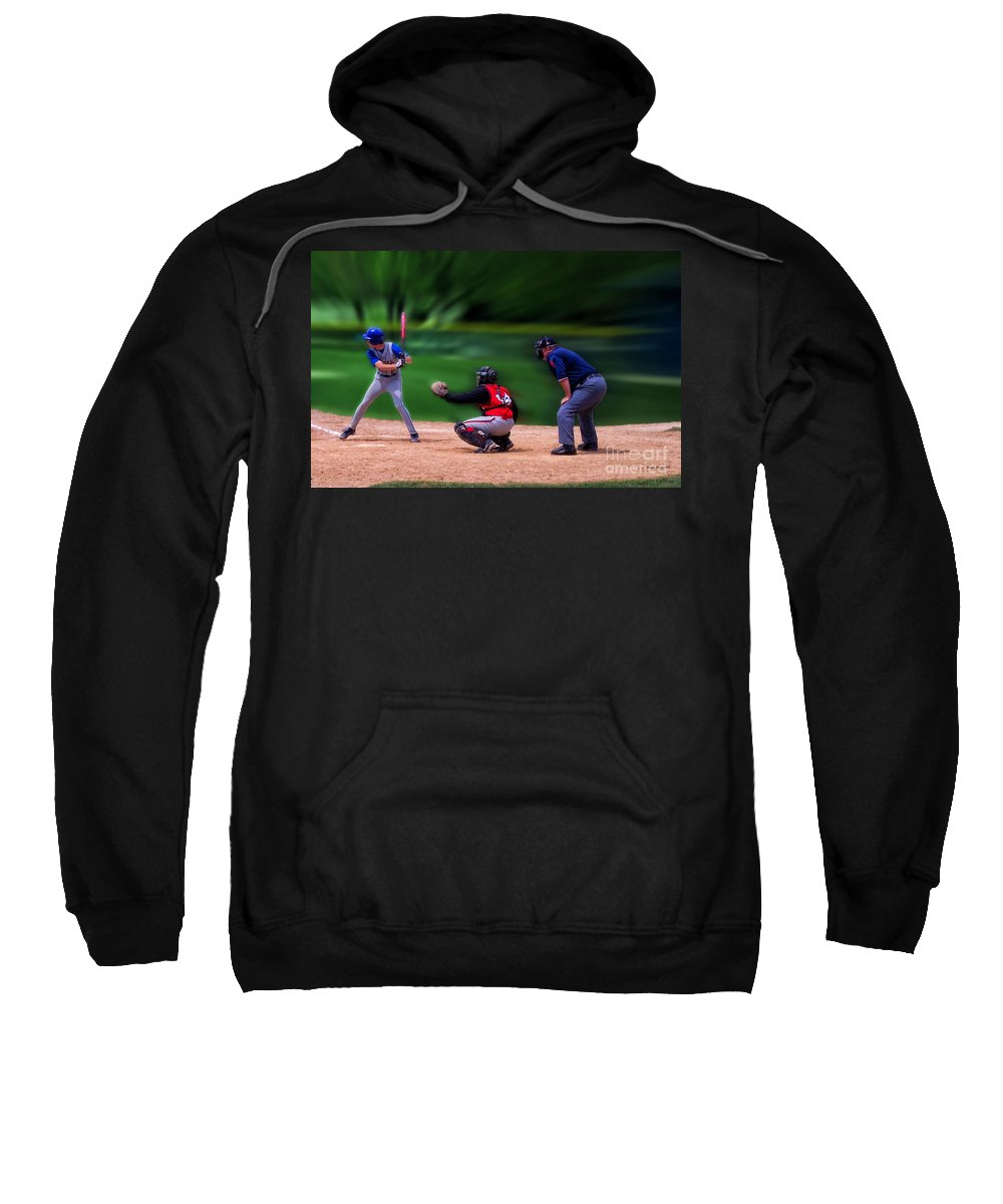 Sports Sweatshirt featuring the photograph Baseball Batter Up by Thomas Woolworth