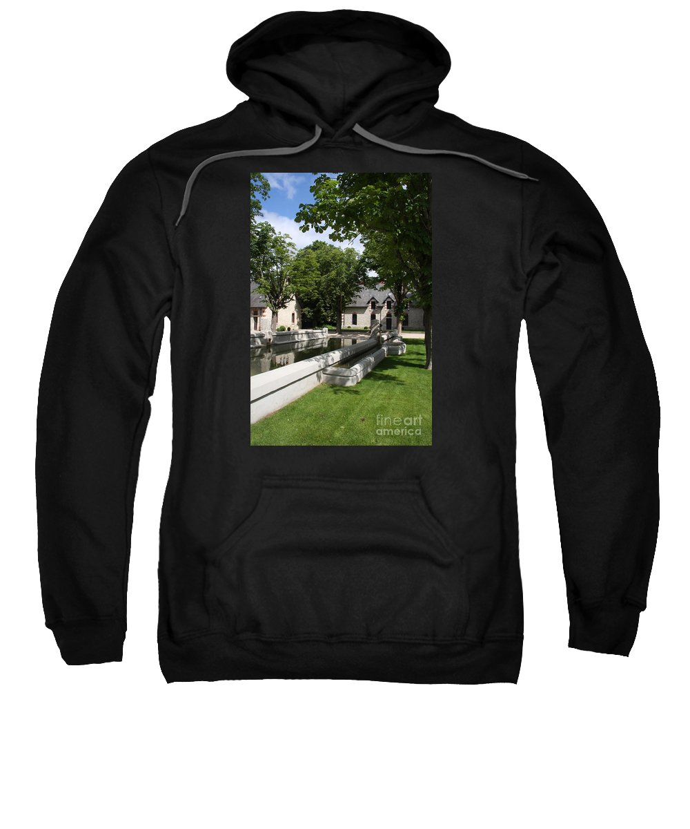 Water Sweatshirt featuring the photograph Basin In The Castle Yard by Christiane Schulze Art And Photography