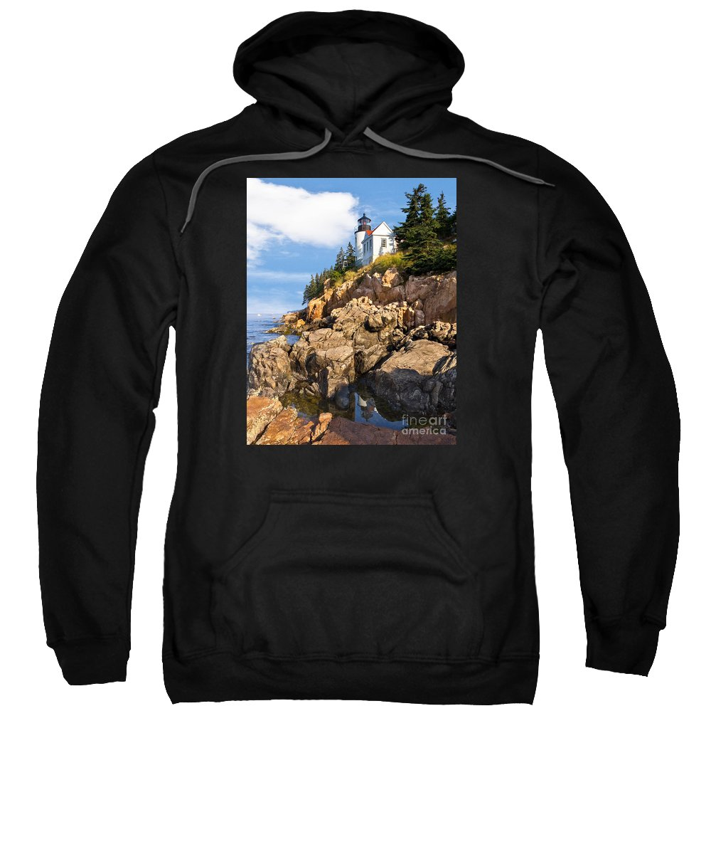 Acadia Sweatshirt featuring the photograph Bass Harbor Lighthouse by Jerry Fornarotto