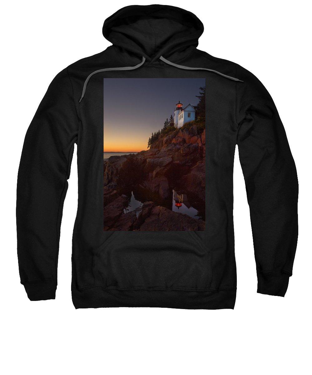 Jonathan Steele Sweatshirt featuring the photograph Bass Head Harbor Lighthouse by Jonathan Steele