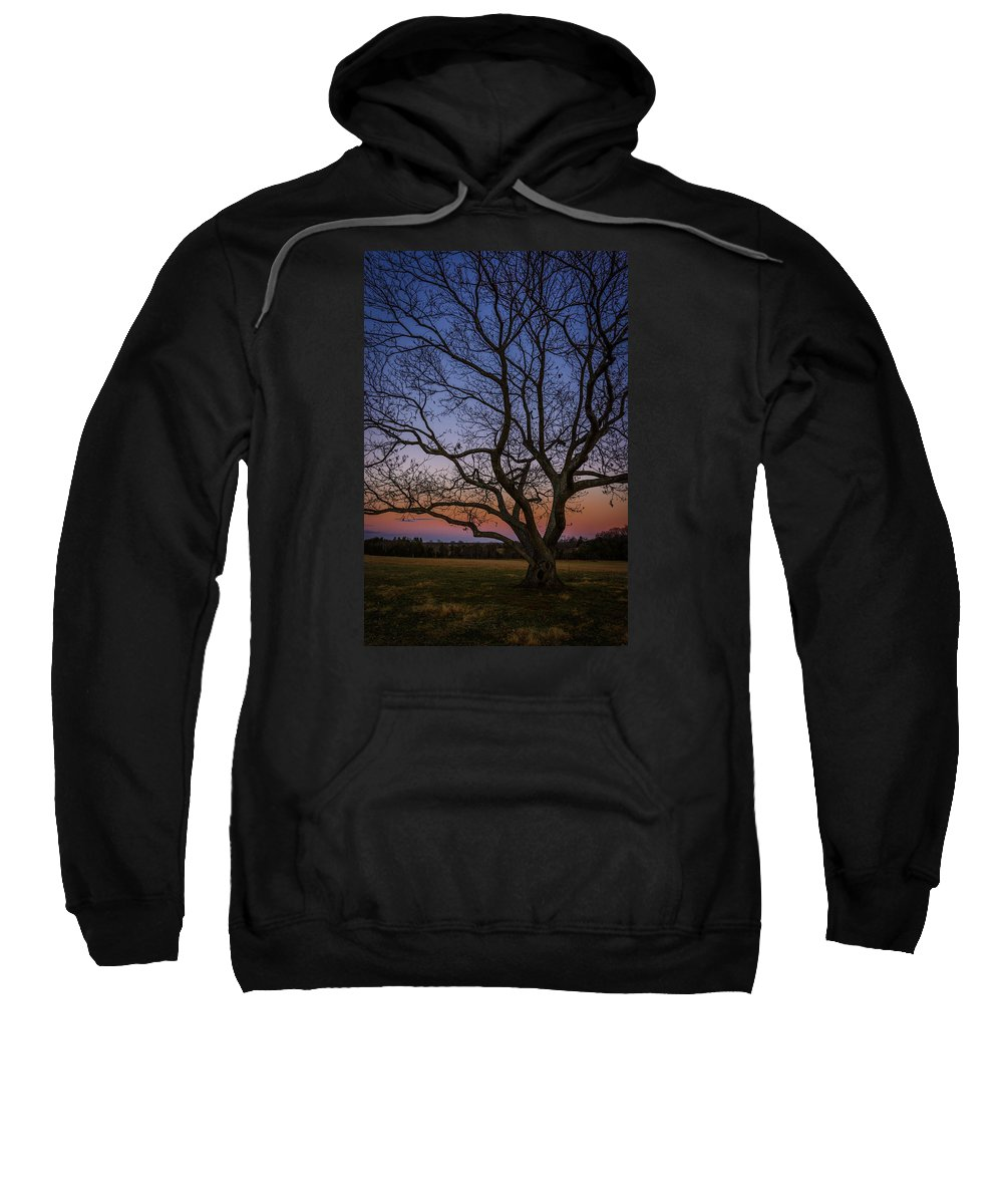 Battery Heights Sweatshirt featuring the photograph Battery Heights Sunset by Pat Scanlon