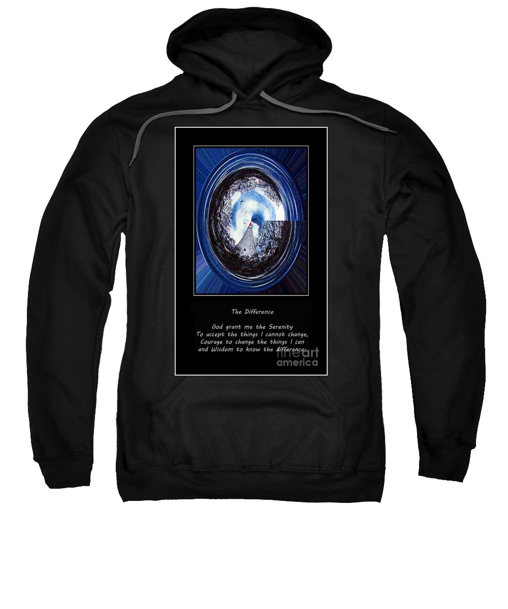 Beacon Of Hope Sweatshirt featuring the painting Beacon Of Hope - Serenity Prayer by Barbara Griffin