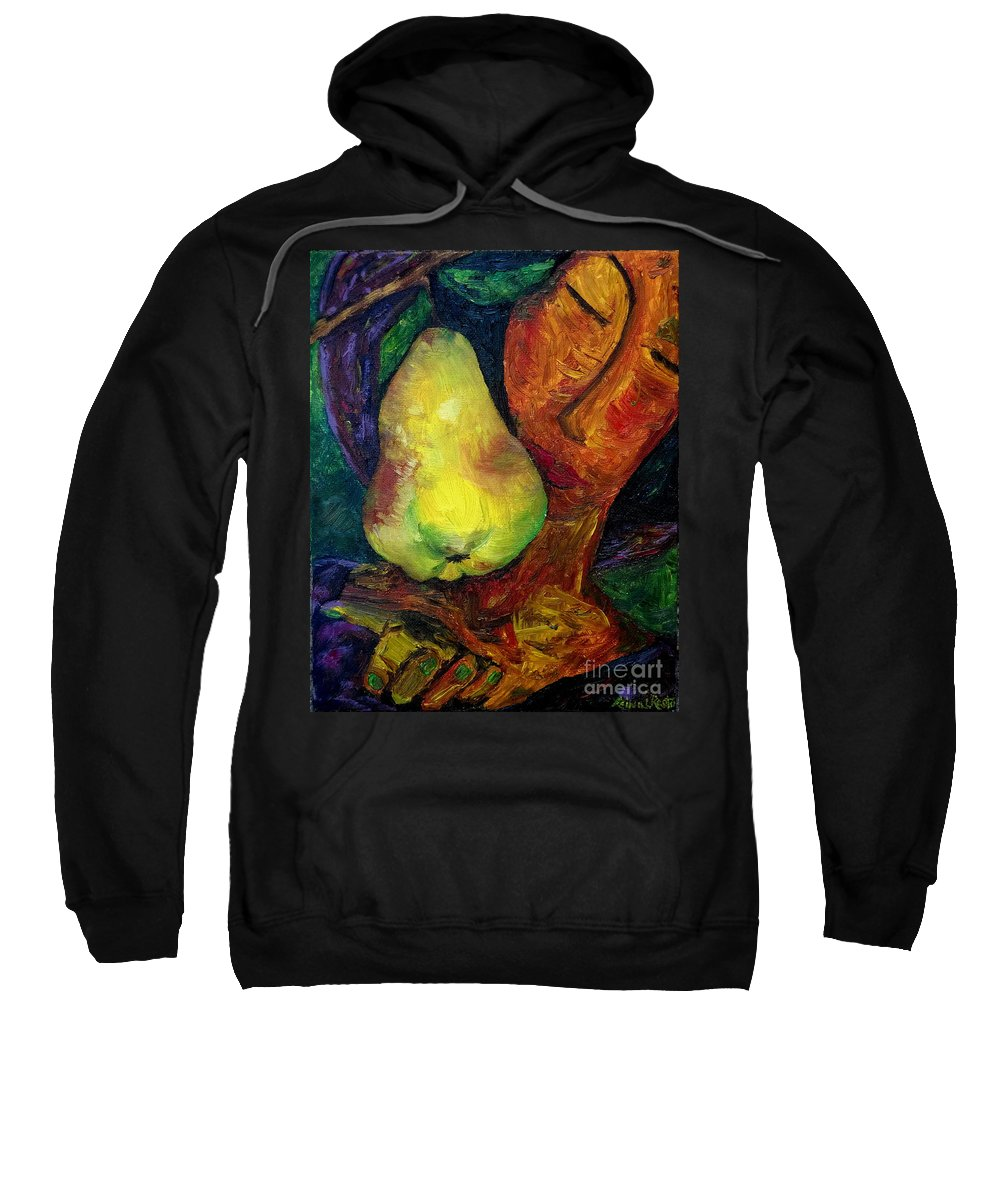 Pears Sweatshirt featuring the painting Beatris by Reina Resto