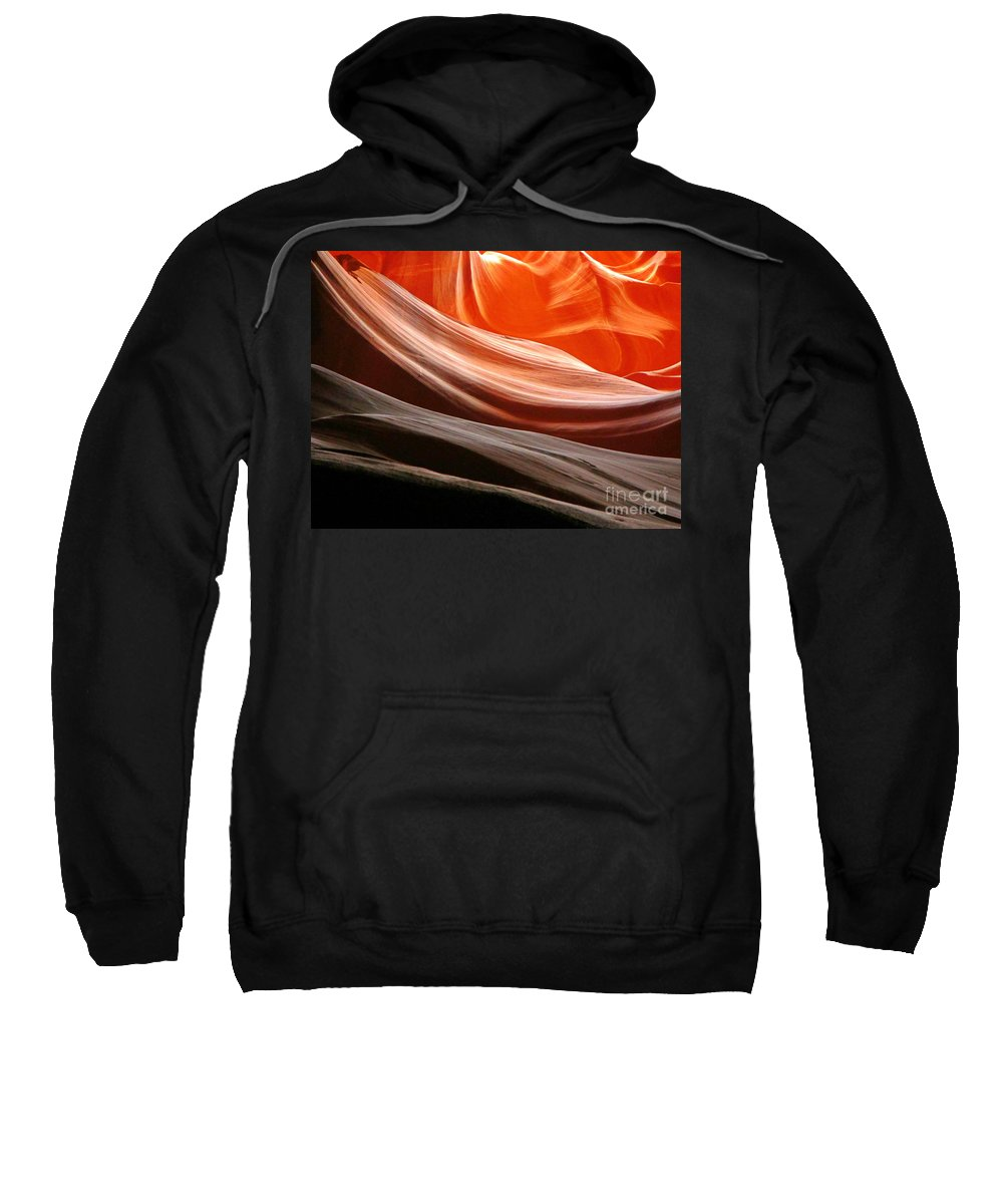 Beautiful Canyons Sweatshirt featuring the photograph Beautiful Sandstone Layers by John Malone