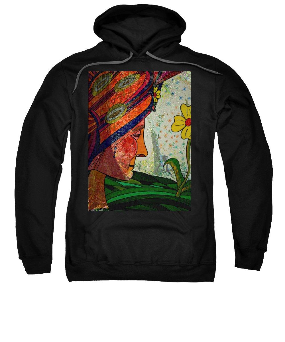 Gardens Sweatshirt featuring the painting Becoming The Garden - Garden Appreciation by Marie Jamieson