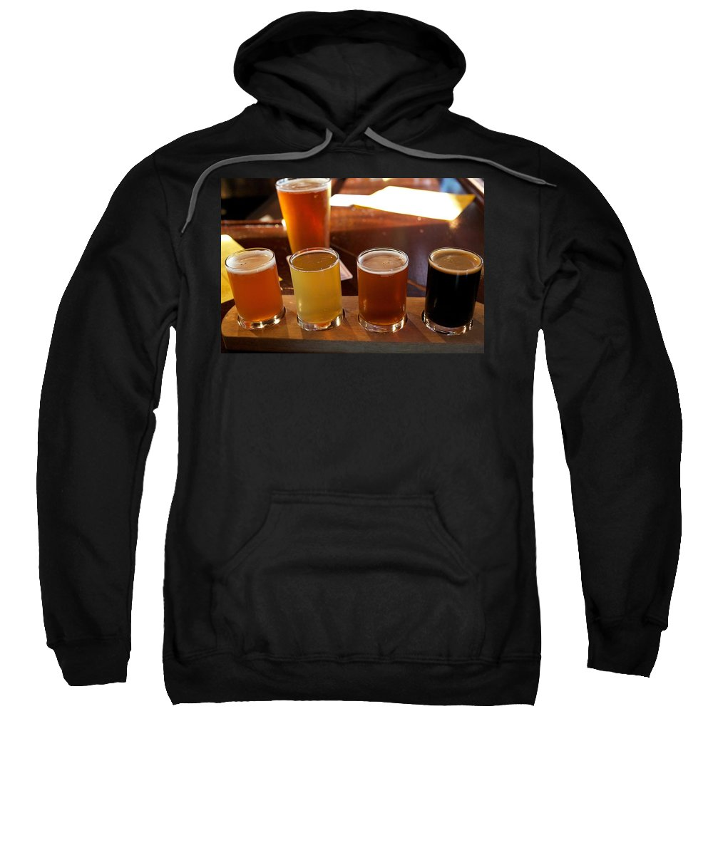 Microbrew Sweatshirt featuring the photograph Beer Sampler by Allan Morrison