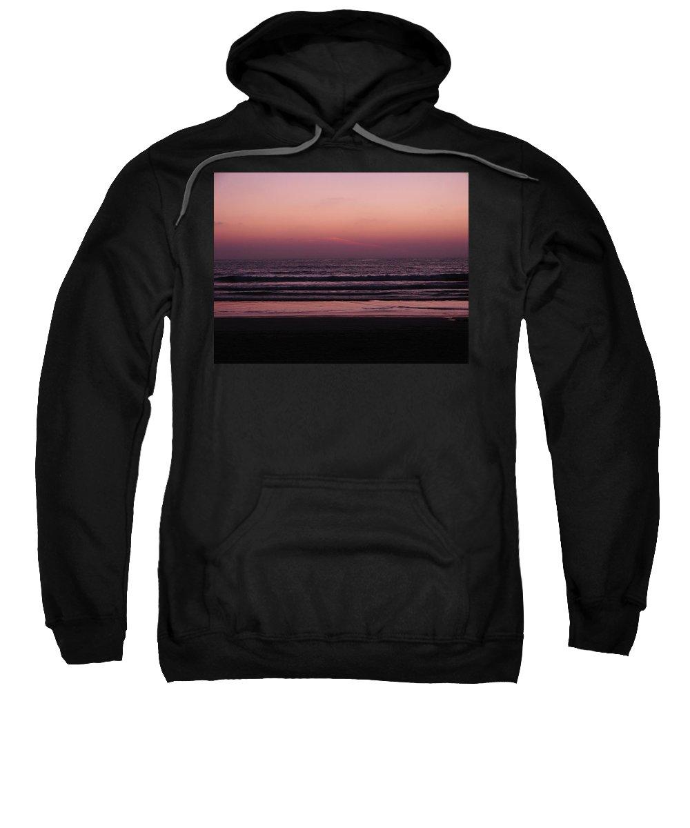 Purple Sweatshirt featuring the photograph Before The Night Fall by Keisha Marshall