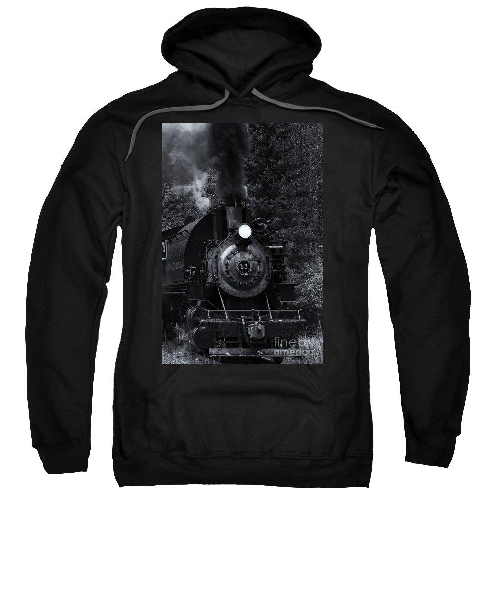 Locomotive Sweatshirt featuring the photograph Belching Smoke by Mike Dawson