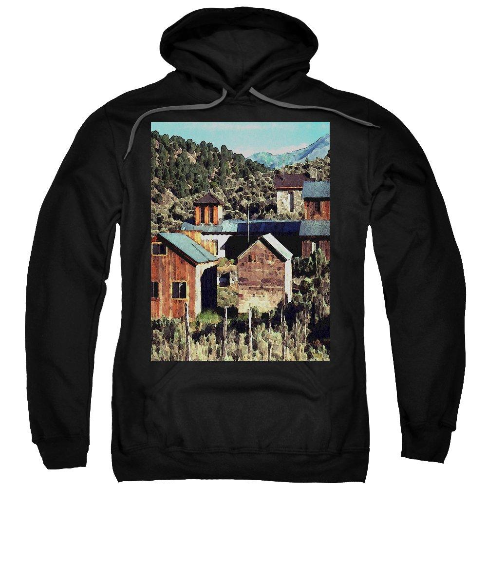 Digital Sweatshirt featuring the digital art Belmont Town by David Hansen