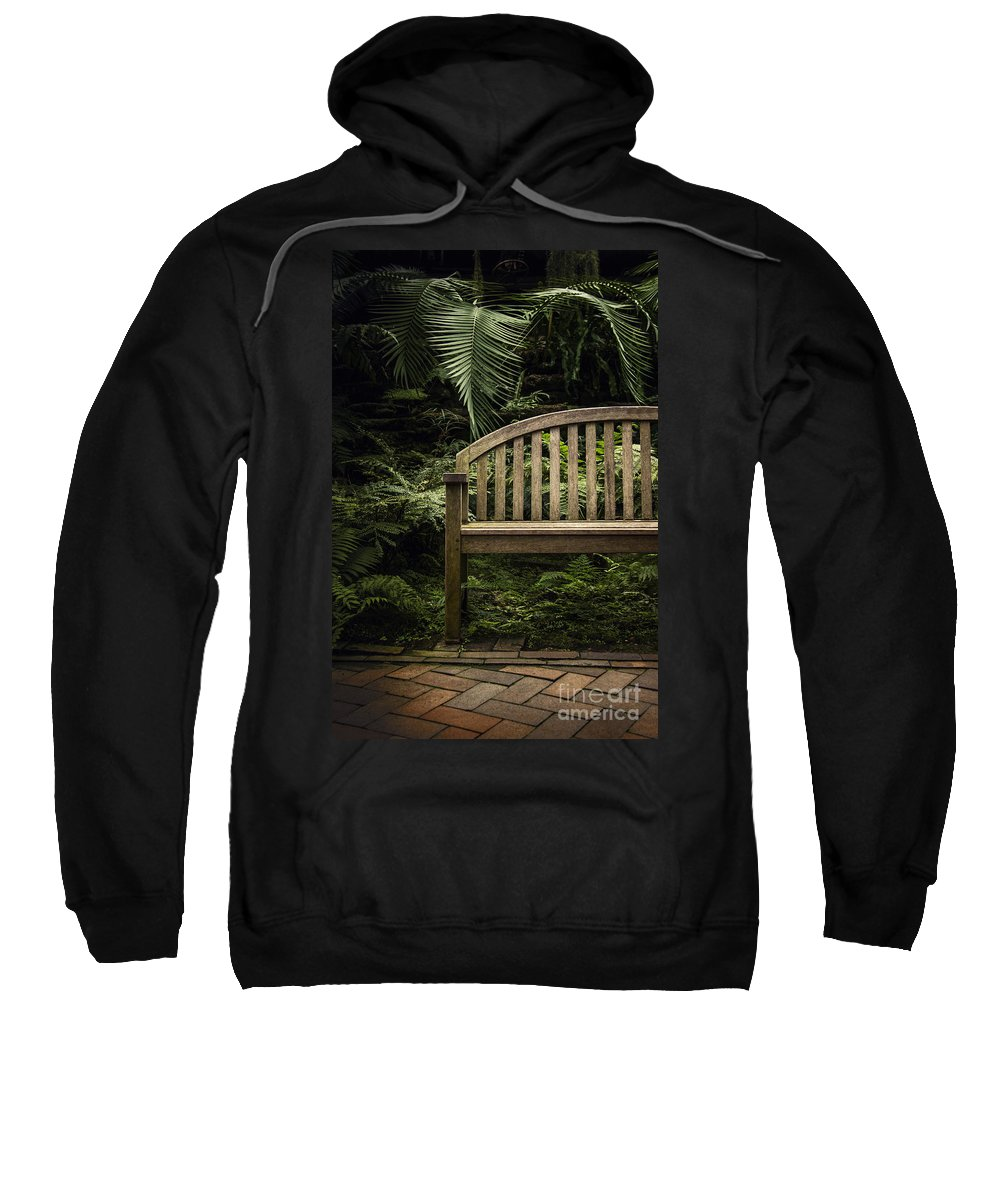 Bench Sweatshirt featuring the photograph Bench by Margie Hurwich