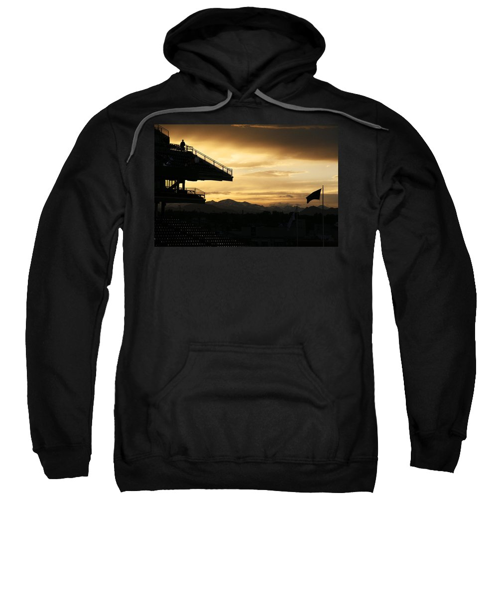 Americana Sweatshirt featuring the photograph Best View Of All - Rockies Stadium by Marilyn Hunt