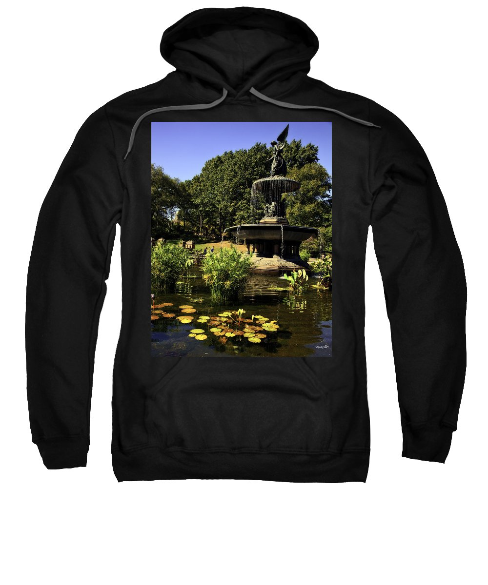 Bethesda Fountain Sweatshirt featuring the photograph Bethesda Fountain - Central Park 2 by Madeline Ellis