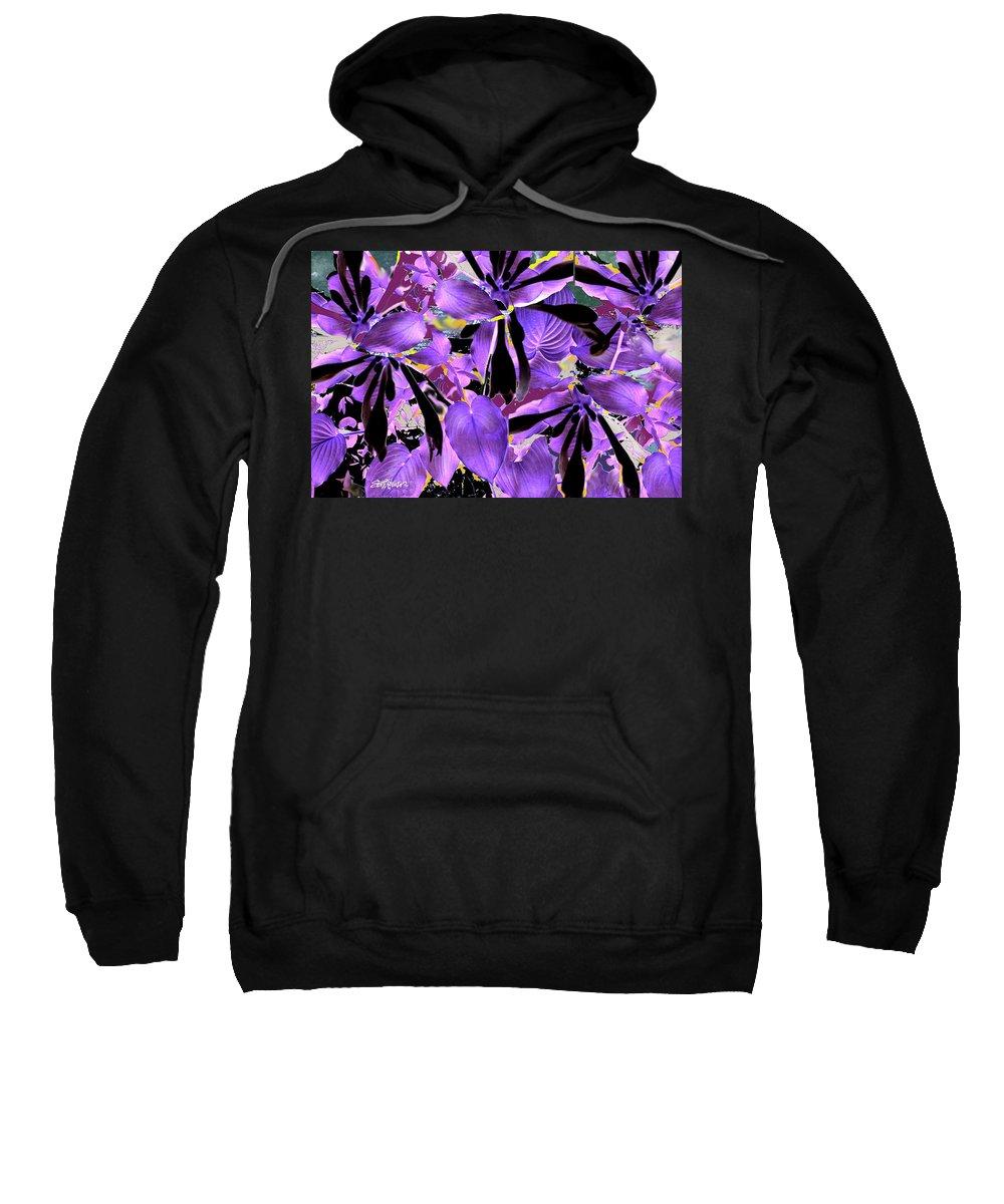Beware The Midnight Garden Sweatshirt featuring the digital art Beware The Midnight Garden by Seth Weaver