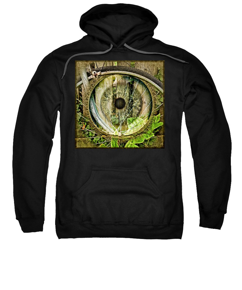 Bikes Sweatshirt featuring the photograph Bifocal by John Anderson