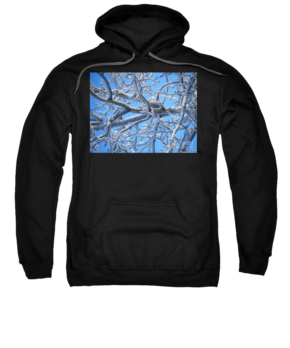 Bifurcation Sweatshirt featuring the photograph Bifurcations In White And Blue by Brian Boyle
