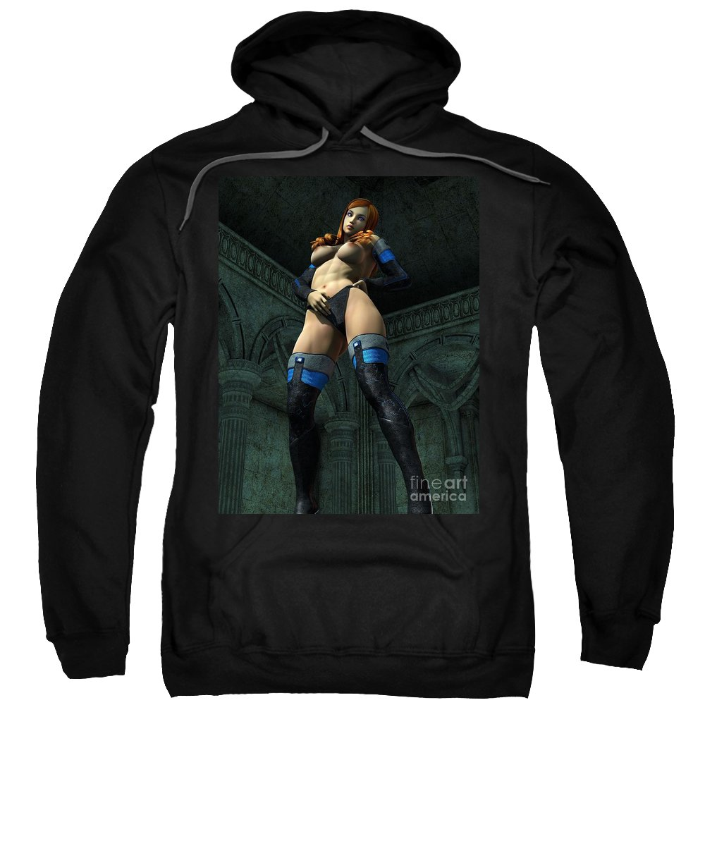 Sexy Sweatshirt featuring the digital art Big Boots by Brian Raggatt