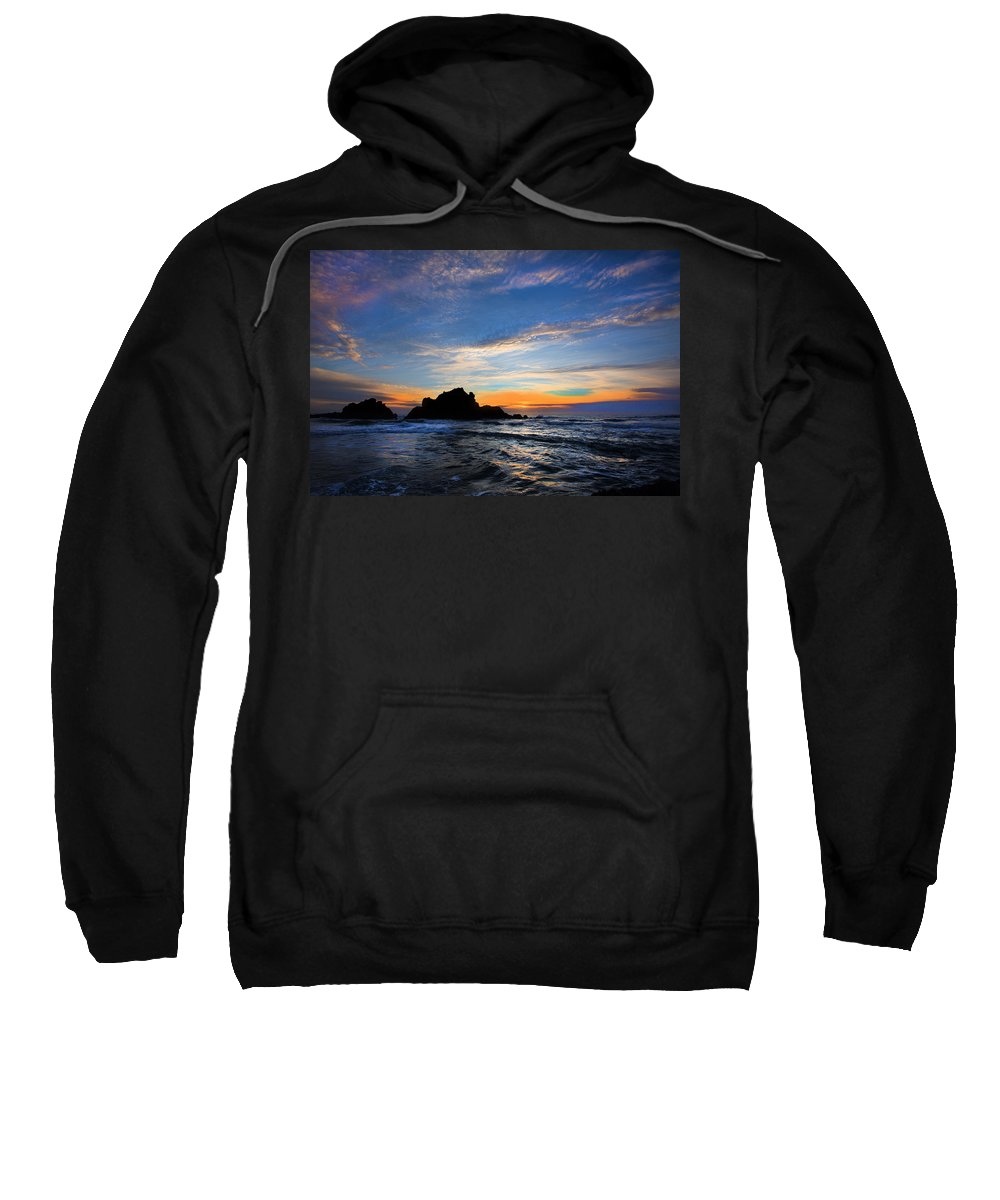 California Sweatshirt featuring the photograph Big Sur Sunset by David Hare