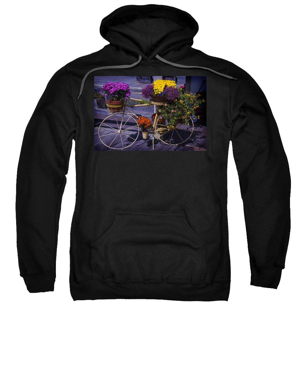 Bike Sweatshirt featuring the photograph Bike Planter by Garry Gay