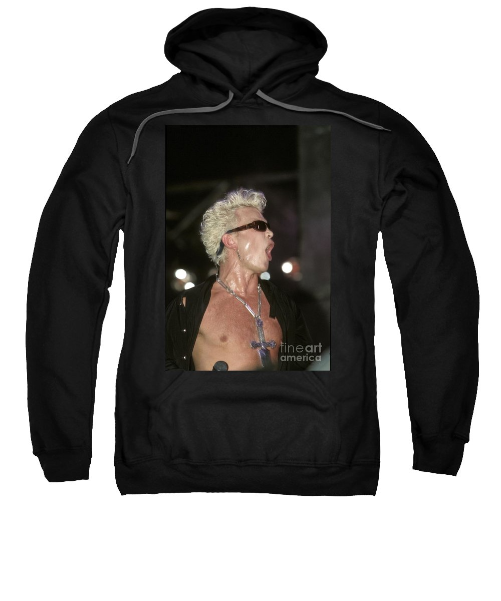 Vocals Sweatshirt featuring the photograph Billy Idol by Concert Photos
