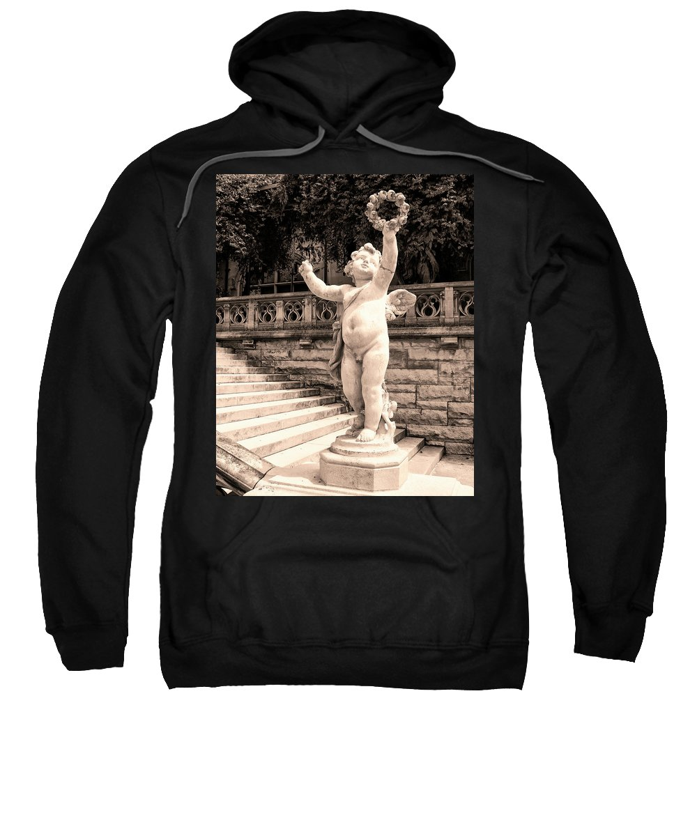 Asheville Sweatshirt featuring the photograph Biltmore Cherub Asheville Nc by William Dey