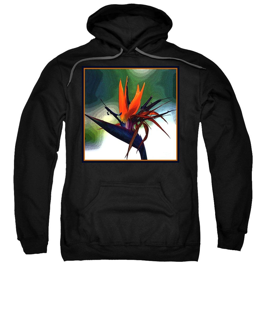Bird Of Paradise Fragrance Sweatshirt featuring the photograph Bird Of Paradise Flower Fragrance by Susanne Van Hulst