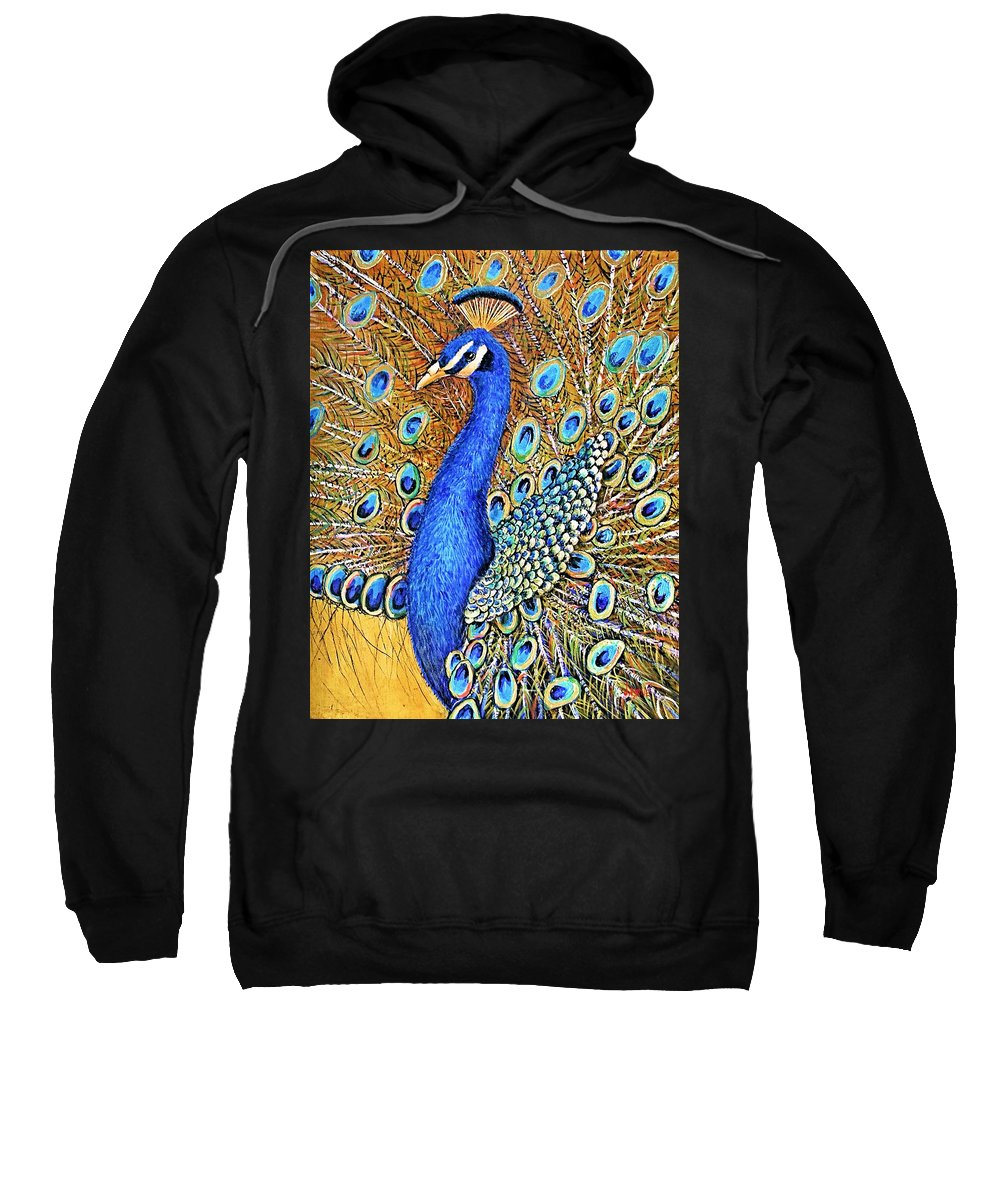 Jaxine Cummins Sweatshirt featuring the painting Bird Of Paradise by JAXINE Cummins