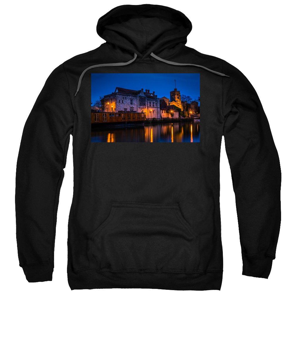 Bishops Palace Maidstone Sweatshirt featuring the photograph Bishops Palace Maidstone by Dawn OConnor