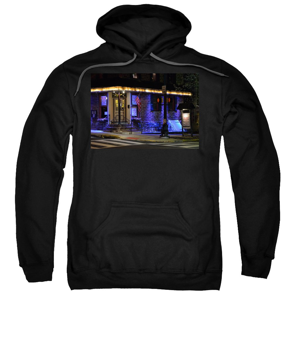 Bucks County Sweatshirt featuring the photograph Black Horse Tavern by William Jobes