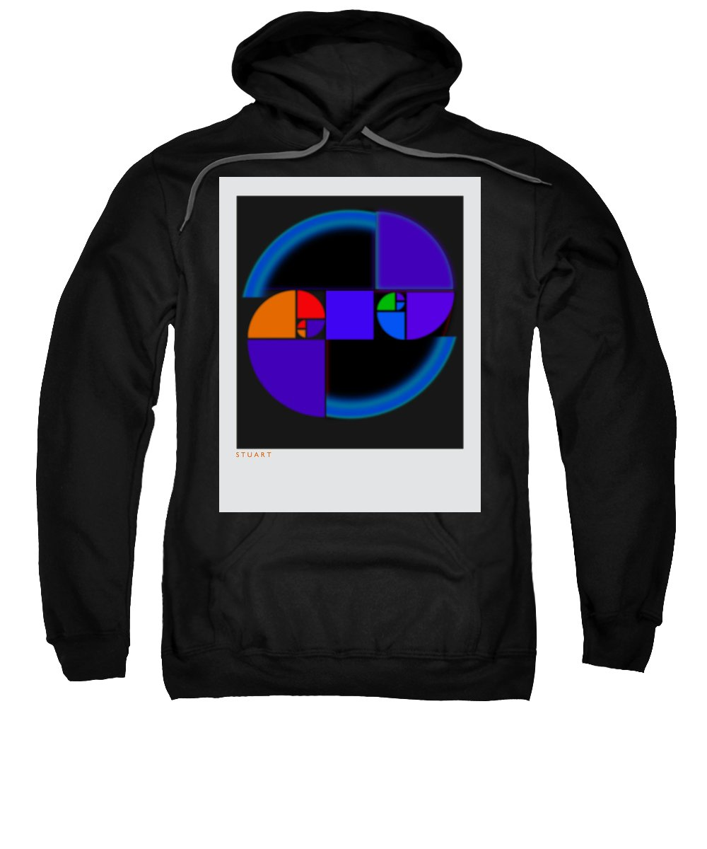 Abstract Art Sweatshirt featuring the painting Black Polaroid by Charles Stuart