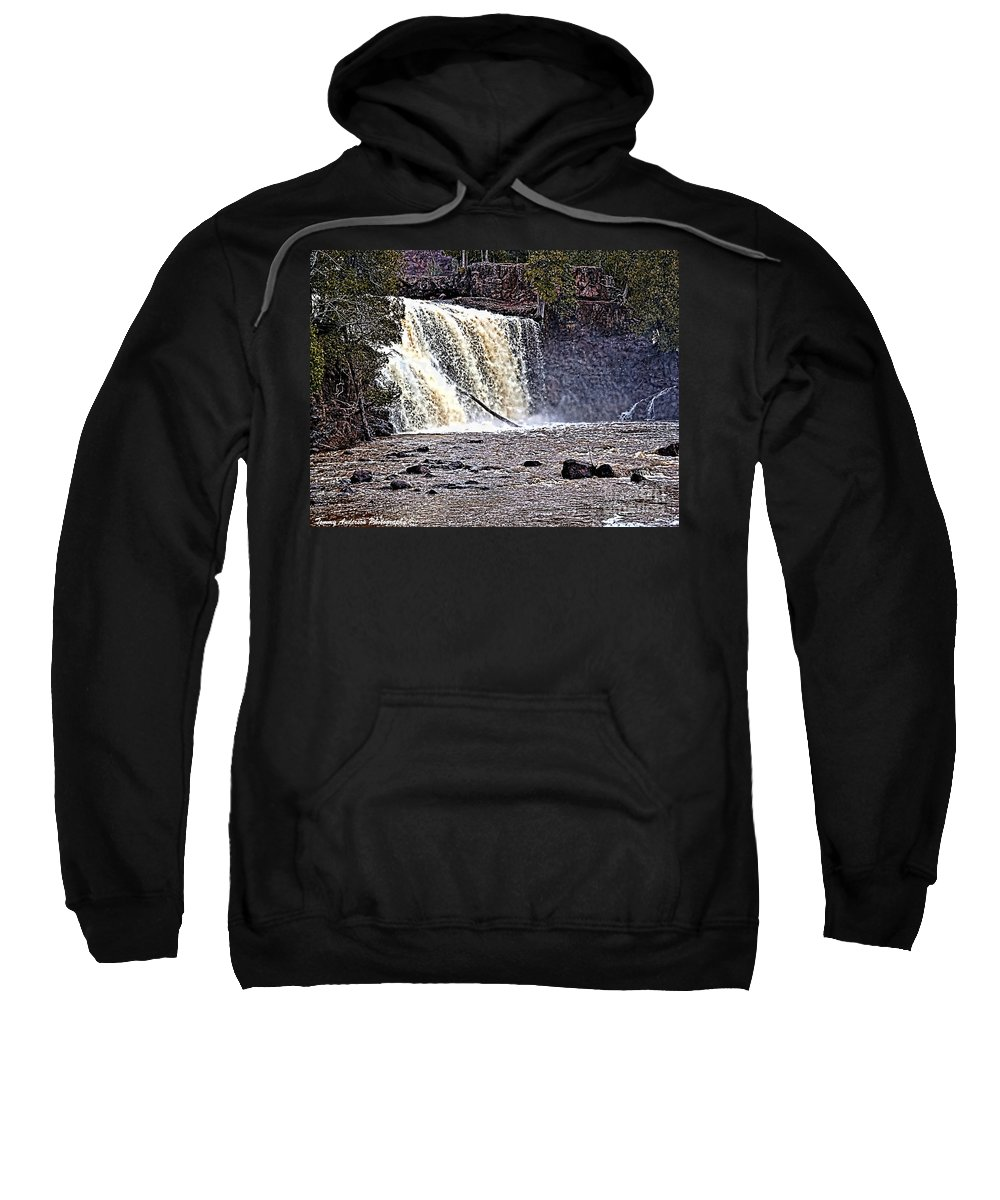 Falls Sweatshirt featuring the photograph Black River Falls by Tommy Anderson