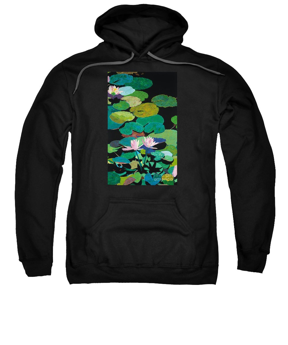 Landscape Sweatshirt featuring the painting Blairs Pond by Allan P Friedlander
