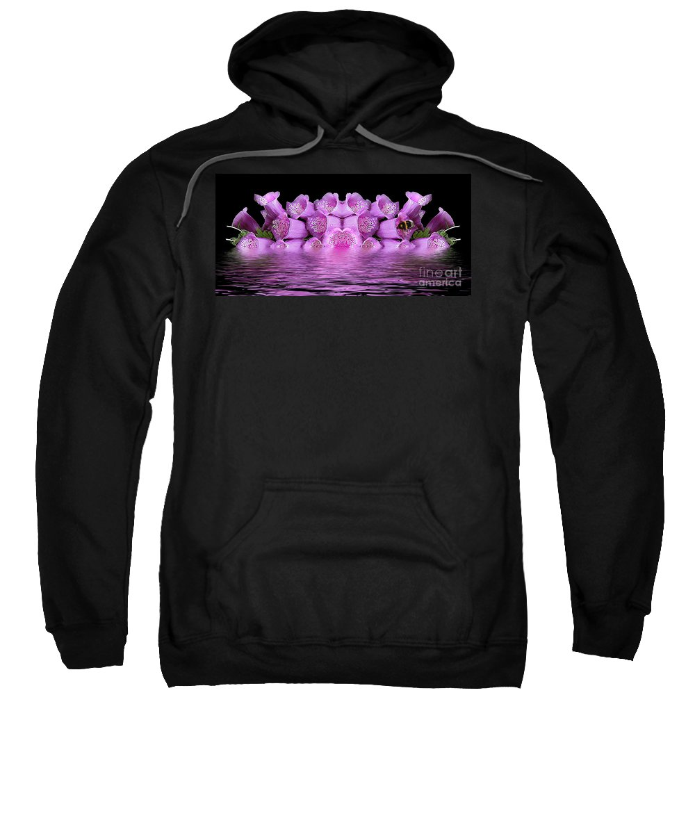 Flowers Sweatshirt featuring the photograph Bleeding Violet 2 by Ben Yassa