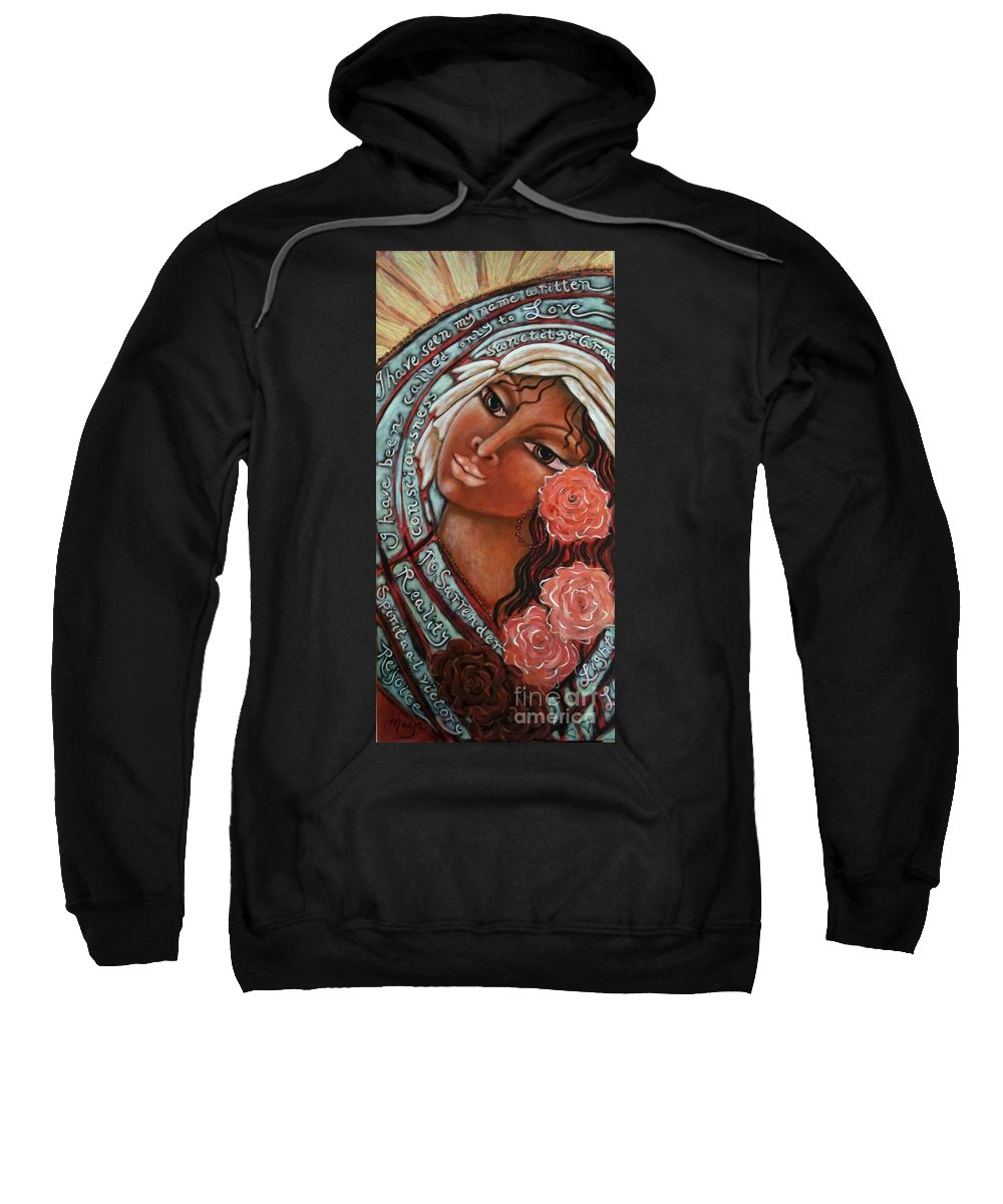 Sacred Art Sweatshirt featuring the painting Blessings Of The Magdalene by Maya Telford