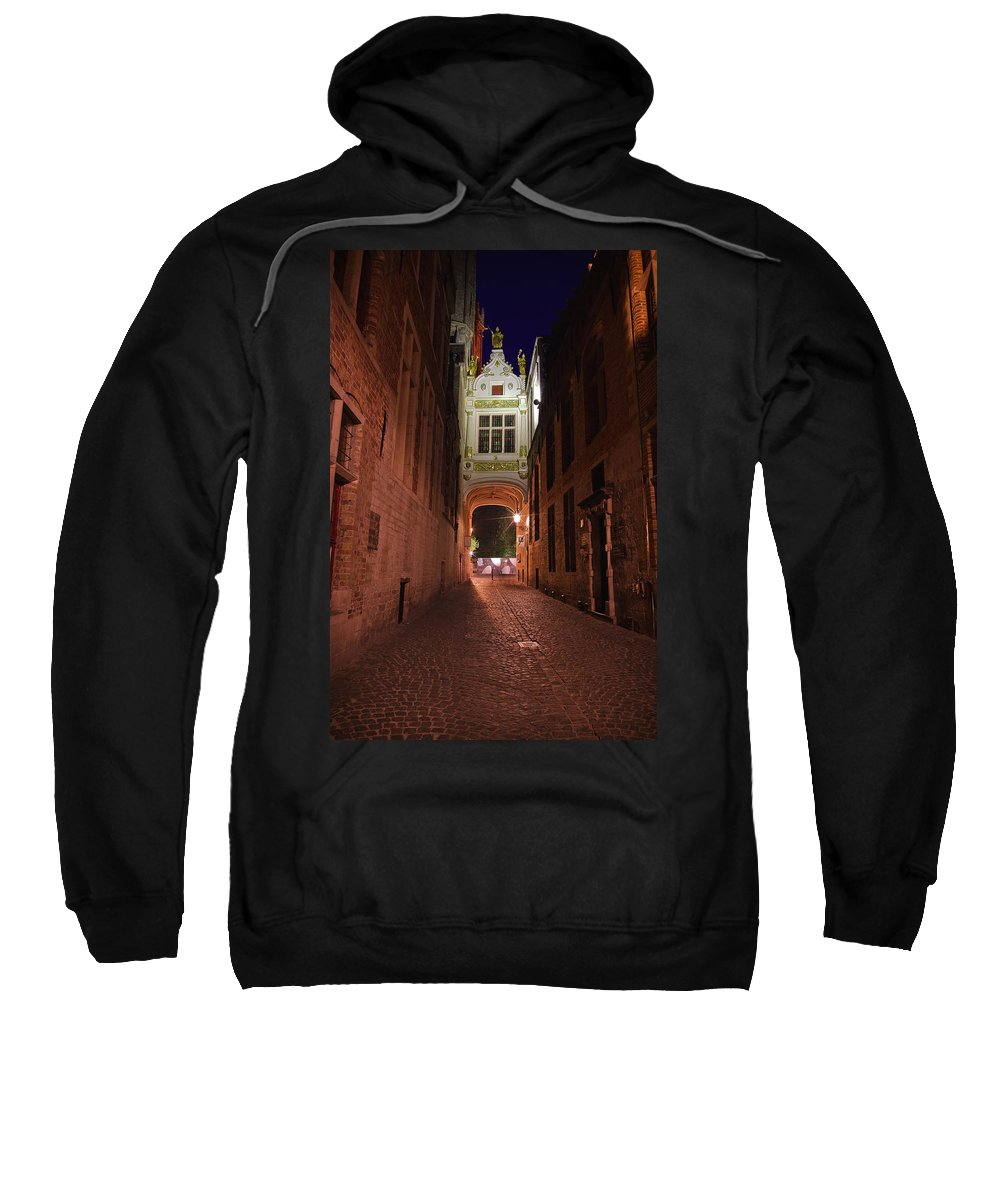 3scape Sweatshirt featuring the photograph Blind Donkey Alley by Adam Romanowicz