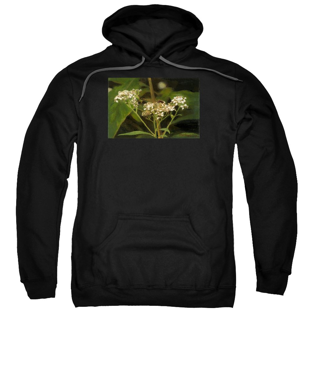 Flower Sweatshirt featuring the painting Blind Love by Sherryl Lapping