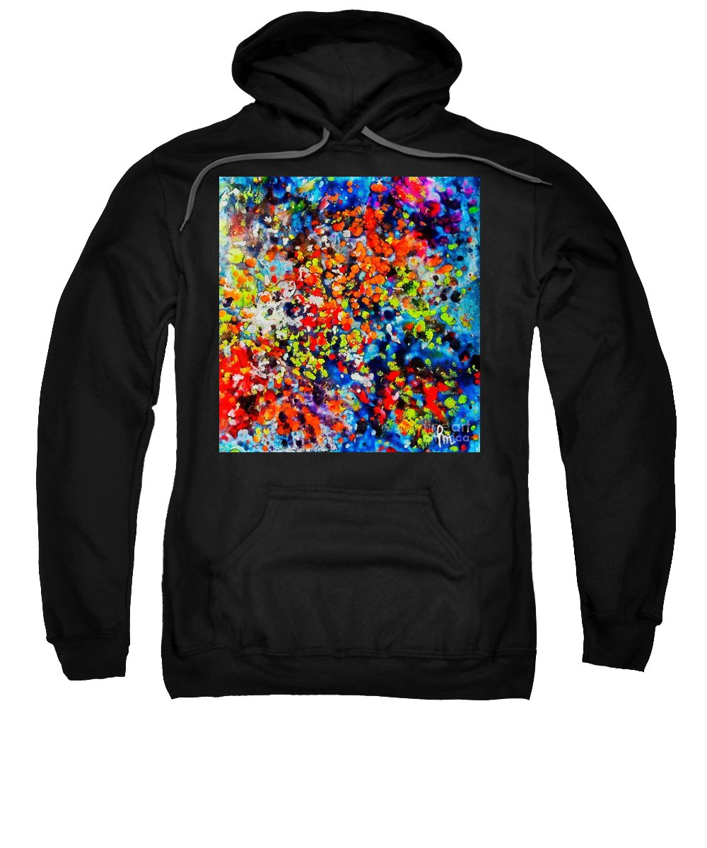 Flowers Sweatshirt featuring the painting Blossoming Meadow by Dragica Micki Fortuna