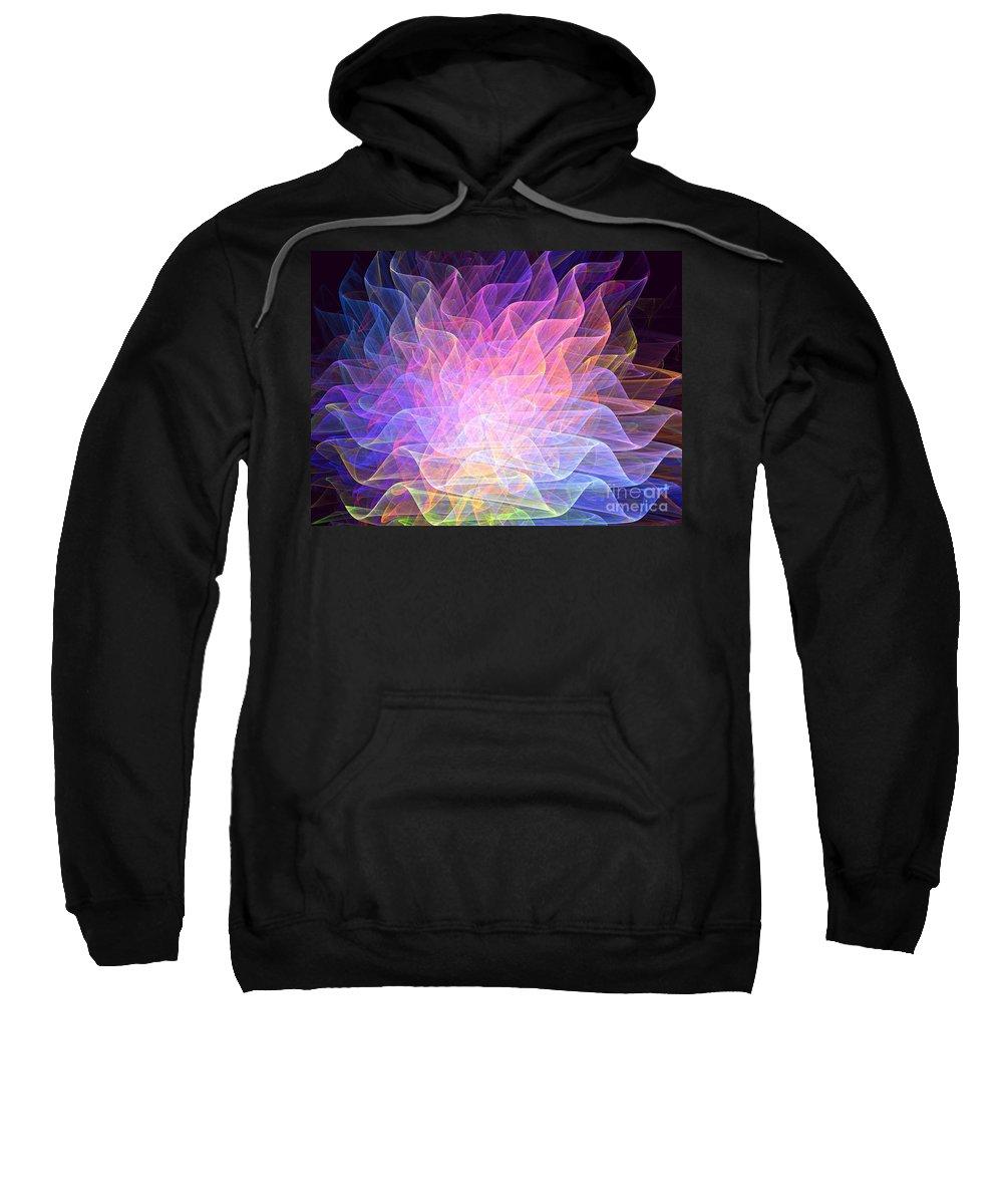 Apophysis Sweatshirt featuring the digital art Blossoms by Kim Sy Ok