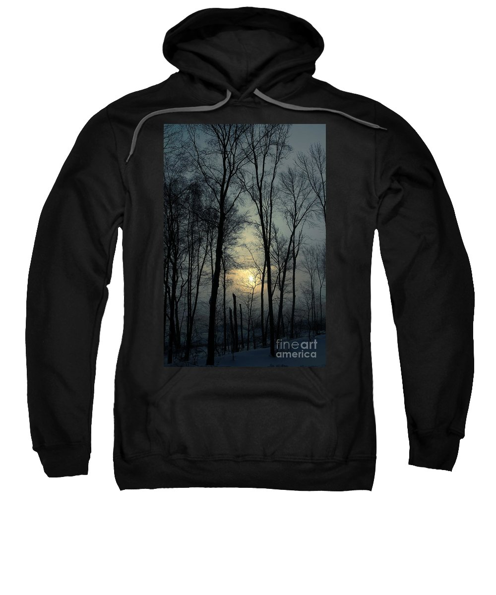 Winter Sweatshirt featuring the photograph Blue Daybreak by Karol Livote