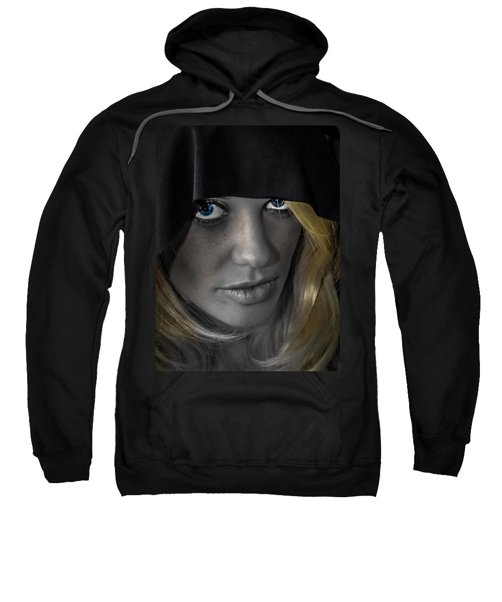 Attractive Sweatshirt featuring the photograph Blue Eyes by Sotiris Filippou